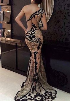 One Shoulder Sleeveless Sexy Lace Prom Dresses Cheap Elegant Dresses, Pretty Dresses, Sexy Dresses, Fashion Dresses, Prom Dresses, Formal Dresses, Wedding Dresses, Beautiful Gowns, Beautiful Outfits