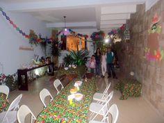 Festa de quintal mexicana