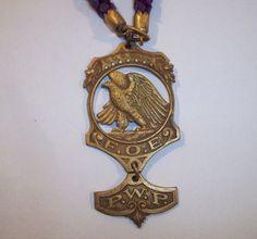 Vintage Fraternal Order of Eagles FOE Brass Medal P w P Shreve Co   eBay