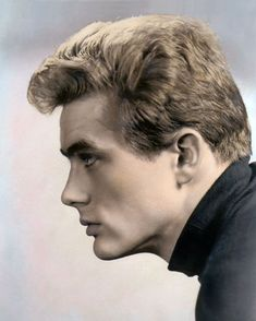 "JAMES DEAN HOLLYWOOD ACTOR & MOVIE STAR 8x10"" HAND COLOR TINTED PHOTOGRAPH"