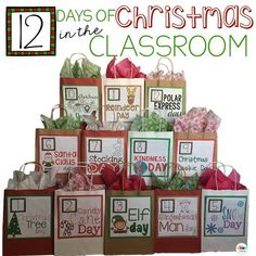 Impress your principal, parents, and even yourself as students engage in both fun and learning right up until the last bell rings before Winter Break! 12 Days of Christmas in the Classroom.