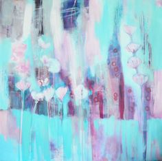 Pretty maids all in a row- contemporary abstract paintings