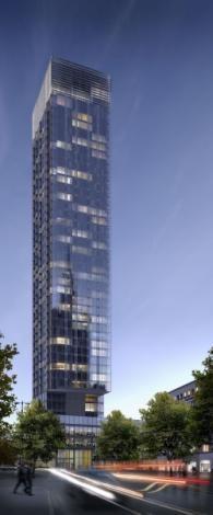 Wizualizacja wieżowca Cosmopolitan (fot. materiały inwestora)