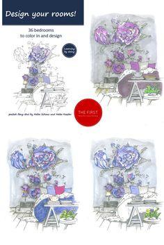 The first feng shui colouring book  http://apprico.de/buecher/design-your-rooms-schlaftraeume/