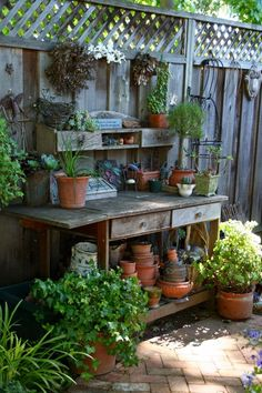 Designing Domesticity: Inspiration Monday: The Potting Bench