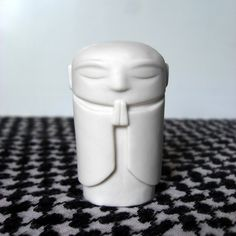 Jizo Bodhisattva  polished white porcelain  25 in tall by jizo, $25.00