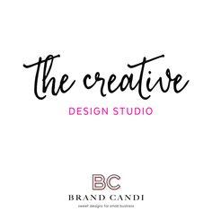 Premade Logo Design - Product Logo - Calligraphy Logo - Design Studio Logo - Boutique Logo - Chic Logo - Fashion Logo - Script Logo - Design by BrandCandi on Etsy