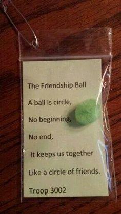 Swap friendship ball