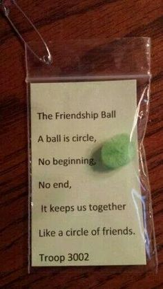 Swap friendship ball