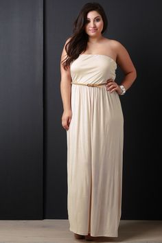 Plus Size Belted Tube Maxi Dress Tube Maxi Dresses, Plus Size Maxi Dresses, Plus Size Outfits, Cute Dresses, Maxi Skirts, Dresses Dresses, Designer Plus Size Clothing, Stylish Plus Size Clothing, Plus Size Fashion Tips