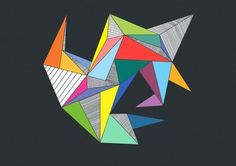 Abstract Triangles Art Print by
