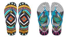 Mara Hoffman + Havaianas...Love the marriage of these two brands. Cute meets casual.