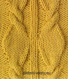 The pattern of braids spokes - spool - site about knitting Cable Knitting, Knitting Stitches, Knit Patterns, Stitch Patterns, Knitted Hats, Crochet, Twists, Yarns, Fiber