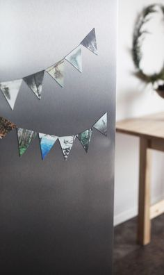 Create a decorative refrigerator banner with Sticky9 Magnets