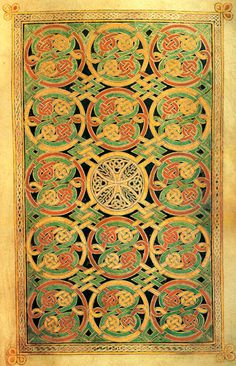 E Book Of Kells Detail of folio 85v of