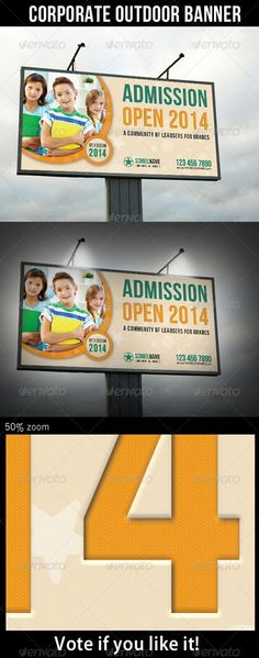 GraphicRiver Junior School Promotion Outdoor Banner 01 6913122