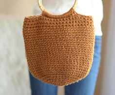 Crocheted Bucket Bag Pattern Crochet Purse Pattern Easy