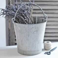 Vintage French Zinc Pail | Flickr - Photo Sharing!