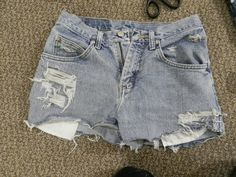 Make Your Own Ripped Jean Shorts