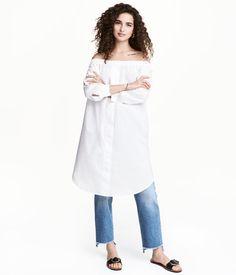 Off-Shoulder-Kleid | Weiß | Damen | H&M DE