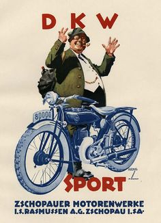 DKW Sport (bookplate) by Hohlwein, Ludwig