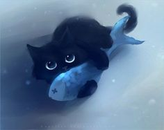 Cute Cat Paintings <b>cute</b> black <b>cats paintings</b> by rihards donskis (aka apofiss <b></b>