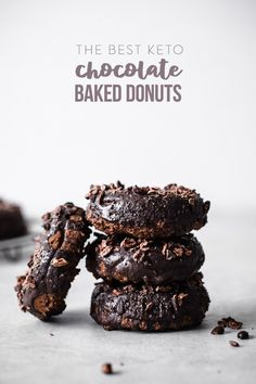 """""""The Best Keto Baked Chocolate Donuts"""" – eggs, butter/ghee/coconut oil, almond f… – Best Sea Food Keto Donuts, Baked Donuts, Doughnuts, Donut Recipes, Keto Recipes, Seafood Recipes, Free Recipes, Easy Recipes, I Have Breakfast"""