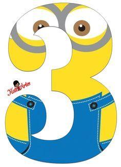 Minion printable party banner: numbers and alphabet a-z Minion Theme, Minion Birthday, Minion Party, Minion Mask, 3 Minions, 3rd Birthday Parties, Birthday Party Decorations, Minion Classroom, Minion Craft