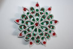 Plastic Canvas Beaded Snowflake Suncatcher Wall by GoodiesGalore10, $10.00