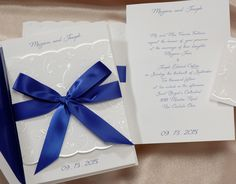 Blue and White Wedding Ideas - White and Blue Wedding Invitation (Invitation  Link - https://www.yourinvitationplace.com/Detail.aspx?ItemNum=T+861SP&WebName=occasionsinprint)