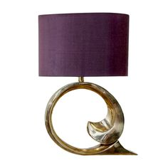 Large Single Pierre Cardin Lamp  USA  1970's  A stunning oversized brass classic c-scroll Pierre Cardin lamp.