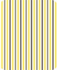 Lemon/Silver Mini Stripe Minky From Shannon by StitchStashDiva, $13.95