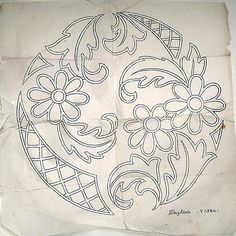 Vintage Deighton embroidery transfer - daisy flowers large round cushion panel in Crafts | eBay