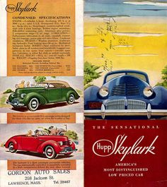 1939 Hupmobile Skylark   1939 Hupmobile Skylark ad via aldenjewell @ Flickr