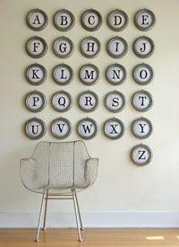 Typewriter Key Wall Art