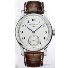 Casual Men's Watches Longines Mens Stainless Steel Watch with Brown Leather Strap L26404785