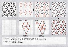 Westminster~zentangle pattern