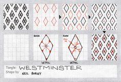Westminster~zentangle pattern