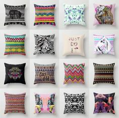 Aztec Pillows on the Interior Collective, play room My New Room, My Room, Aztec Pillows, Throw Pillows, Accent Pillows, Diy Room Decor, Bedroom Decor, Home Decor, Decoration
