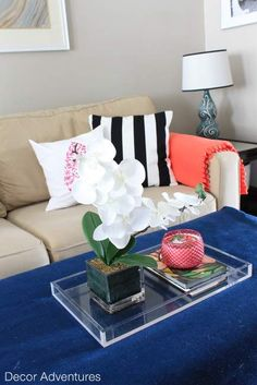 Summer Home Tour of an old house with bright modern accents.