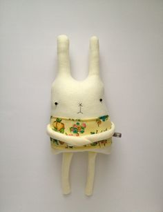 Plush Bunny Friend- Finkelstein's Center Handmade Creature