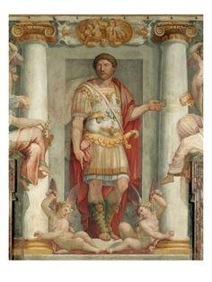 roman frescoes | ROMAN LEGIONNAIRE FRESCO Giclee Print|By Araldo Luca