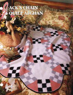 Jack's Chain Quilt Afghan Annie's Crochet Afghan Pattern Instruction Leaflet #AnniesAttic