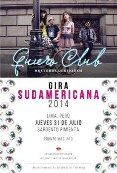Gira Sudamericana #QuieroClub10Años 31/07 Sargento Pimienta #Lima