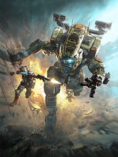 ArtStation - TITanfall 2 box art, Tu Bui