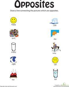 8 besten Le contraire- Preschool Bilder auf Pinterest | Converse ...