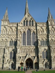 Cathedrals - this medieval one is in Salisbury, England