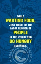 Food Wastage Posters | Food wastage management posters Delhi India.