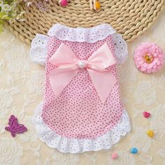 Princess Dress Fashion Pet Dog Clothes Leisure Dresses Shirt Skirt For Small Medium Dogs XS-XL