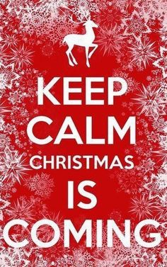 Keep Calm Christmas Is Coming. (Sometimes I need to be reminded to keep calm in the face of the pressure to celebrate and enjoy myself! Christmas Time Is Here, Christmas Store, Noel Christmas, Merry Little Christmas, Christmas Quotes, All Things Christmas, Winter Christmas, Christmas Is Coming Quotes, Funny Christmas